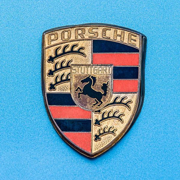 1972 Porsche 911s Emblem - 0584c55 Print by Jill Reger