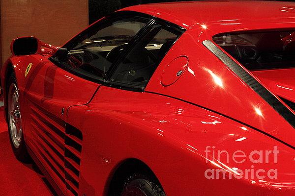1986 Ferrari Testarossa - 5d20030 Print by Wingsdomain Art and Photography