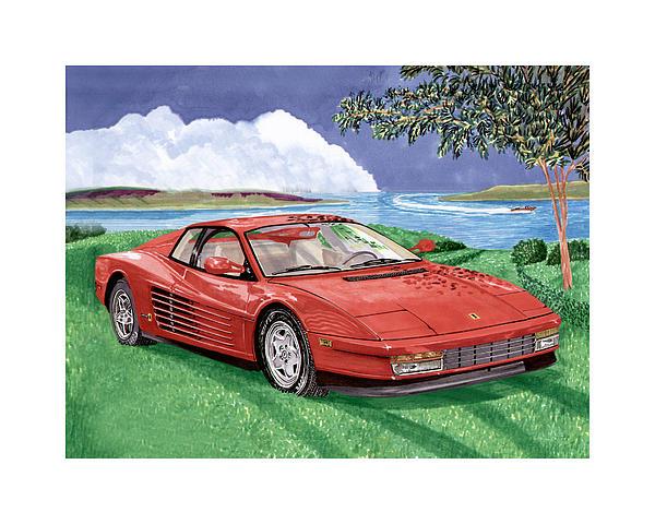 1987 Ferrari Testarosa Print by Jack Pumphrey