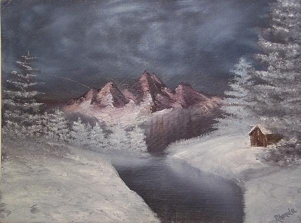 1st Painting 2-27-1991 Print by Rhonda Lee