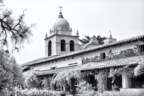Facade Of The Chapel Mission San Carlos Borromeo De Carmelo Print by Ken Wolter