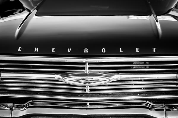 1960 Chevrolet El Camino Grille Emblem Print by Jill Reger