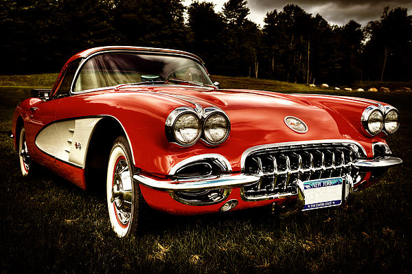 1960 Chevy Corvette Print by David Patterson