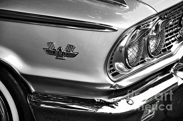 1963 Ford Galaxie Front End And Badge Print by Kaye Menner