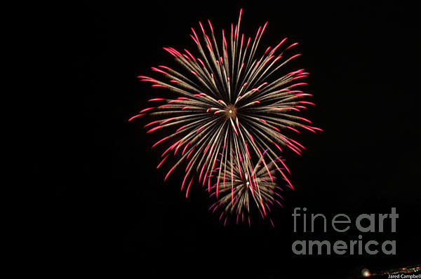 4th Of July Fireworks  Print by Jared Campbell