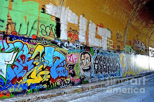 Abandoned Train Tunnel South Of The Old Train Roundhouse At Bayshore Near San Francisco  Print by Jim Fitzpatrick
