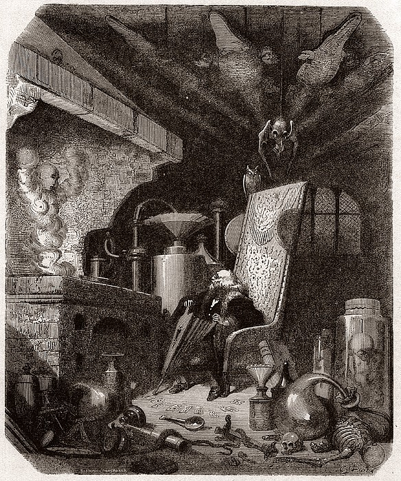 Alchemist At Work, 19th Century Print by Science Photo Library