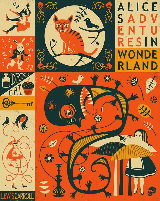 Alice In Wonderland Print by Jazzberry Blue