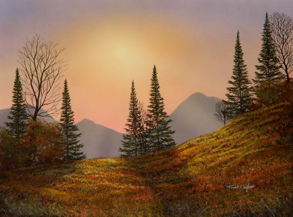 Alpine Sunset Painting