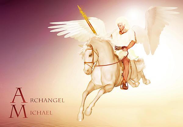 Archangel Michael Print by Valerie Anne Kelly