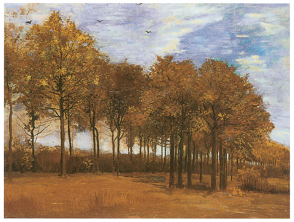 Autumn Landscape Print by Vincent Van Gogh