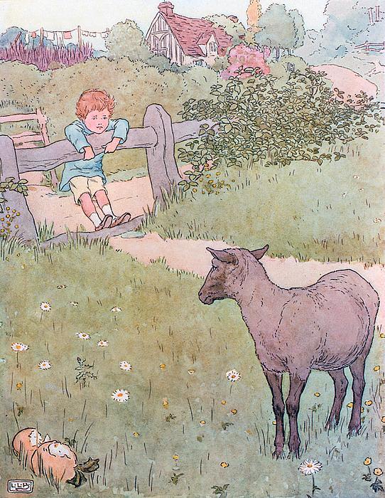 Baa Baa Black Sheep Print by Leonard Leslie Brooke