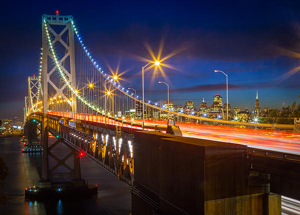 Bay Bridge Print by Inge Johnsson