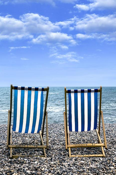 Beach Chairs Print by Joana Kruse