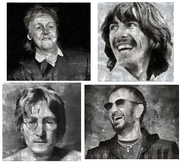 Beatles Print by Riccardo Zullian