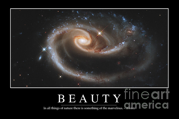Beauty Inspirational Quote Print by Stocktrek Images