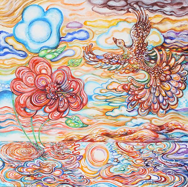 Bird In The Islands Print by Susan Schiffer