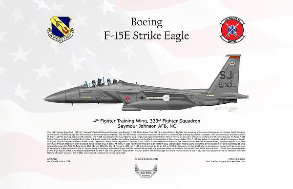 Boeing F-15e Strike Eagle Print by Arthur Eggers