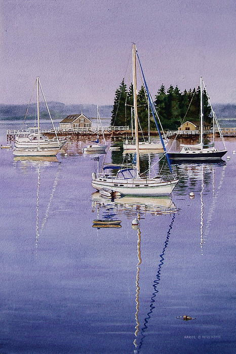 Boothbay Harbor Print by Karol Wyckoff