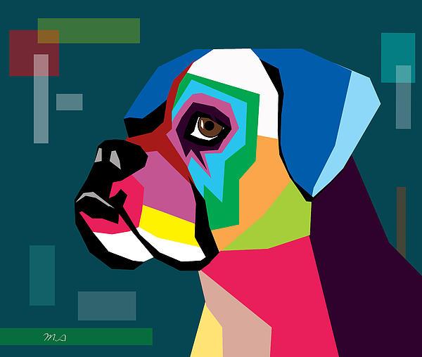 Boxer  Print by Mark Ashkenazi