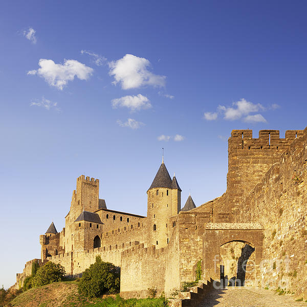 Carcassonne Languedoc-roussillon France Print by Colin and Linda McKie