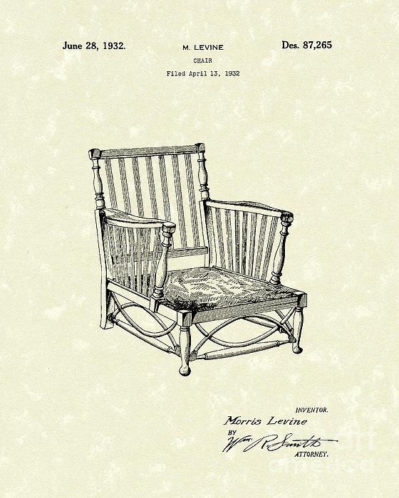 Chair 1932 Patent Art Print by Prior Art Design