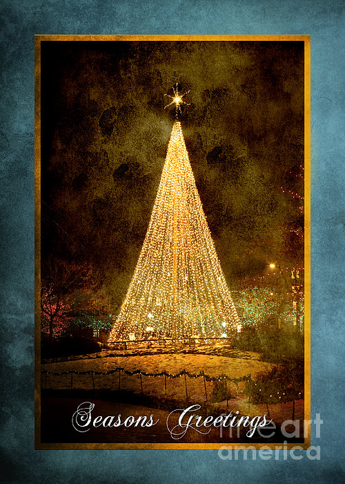 Christmas Tree In The City Print by Cindy Singleton