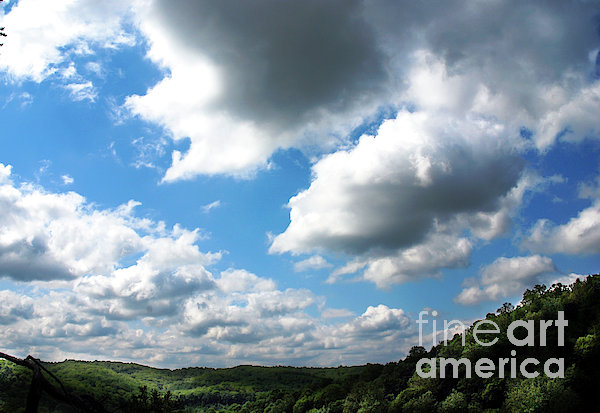 Clouds Print by Optical Playground By MP Ray