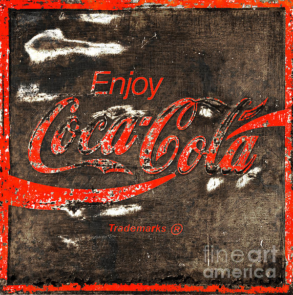 Coca Cola Sign Print by John Stephens