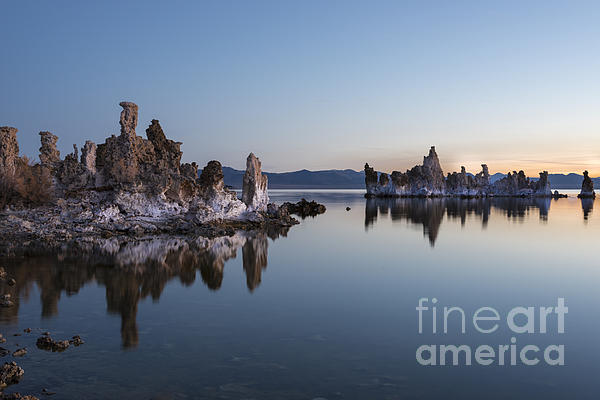 Dawn On Mono Lake Print by Sandra Bronstein