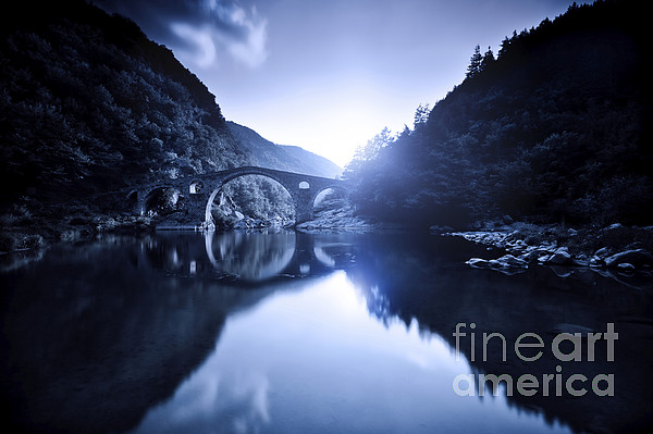 Dyavolski Most Arch Bridge Print by Evgeny Kuklev