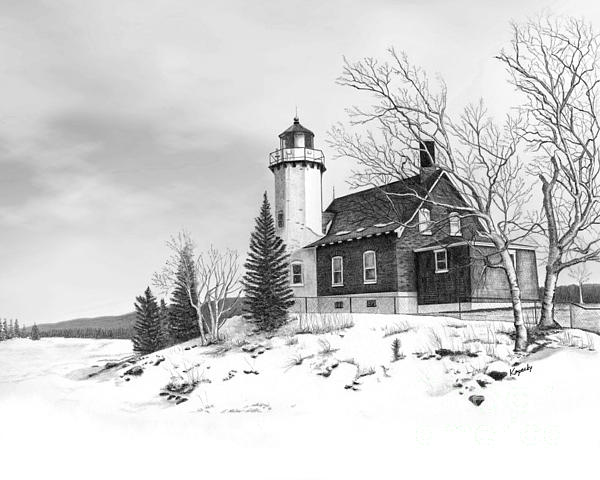 Eagle Harbor Lighthouse Print by Darren Kopecky