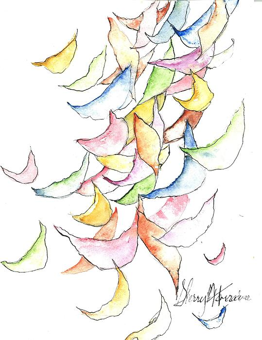 Falling Into Place Print by Sherry Harradence