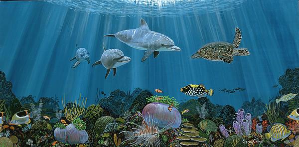 Fantasy Reef Re0020 Print by Carey Chen