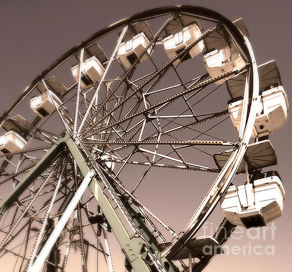 Ferris Wheel Print by Gregory Dyer