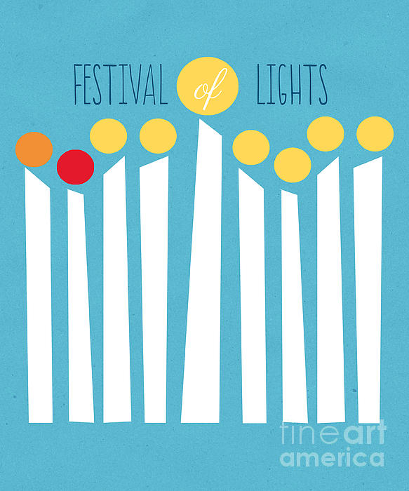 Festival Of Lights Print by Linda Woods
