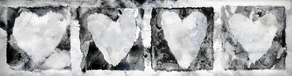 Four Hearts Print by Carol Leigh