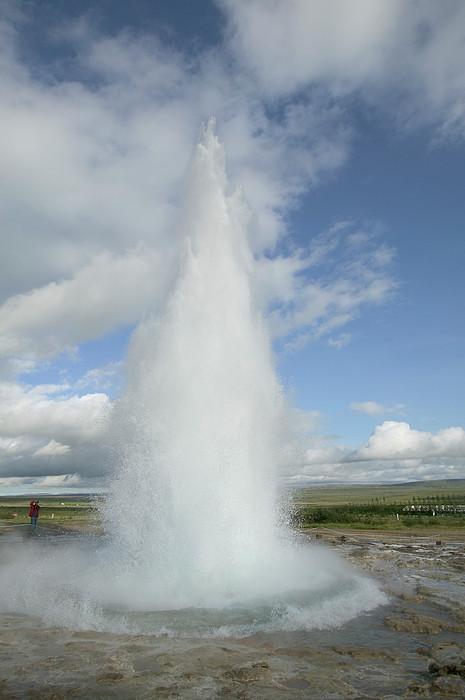 20 Meters High : Geyser erupting meters high every by cyril ruoso