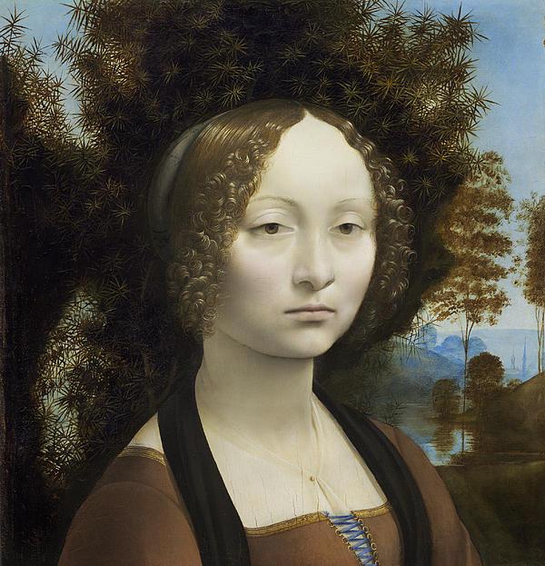 Ginevra De Benci Print by Leonardo Da Vinci