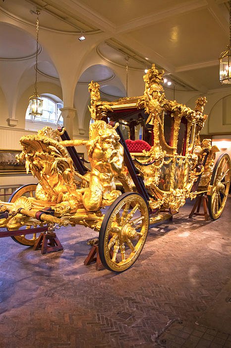 Gold State Coach Queen Elizabeth II Print by David French