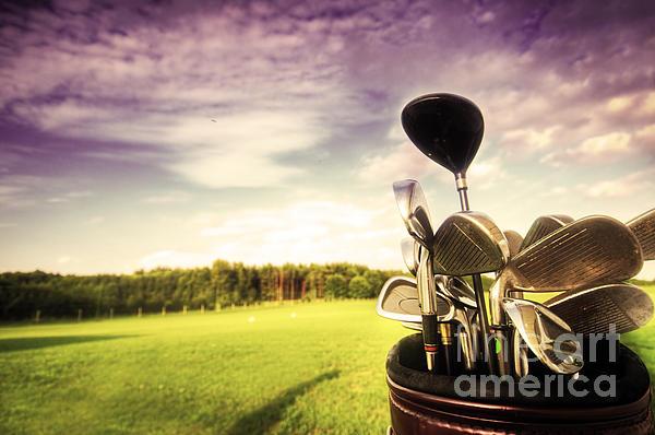 Golf Gear Print by Michal Bednarek