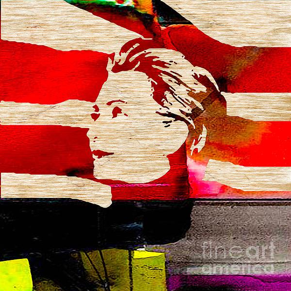 Hillary Clinton Print by Marvin Blaine