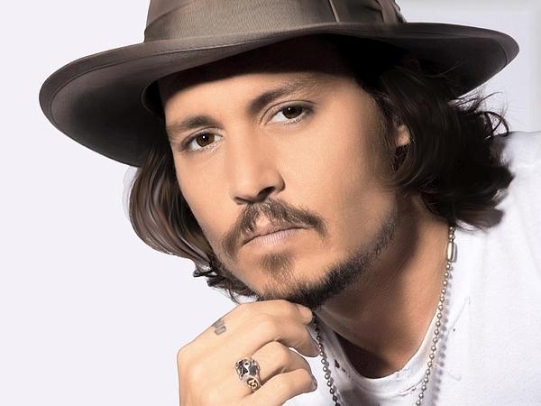 Johnny Depp Print by Karon Melillo DeVega
