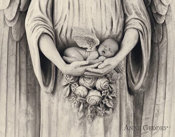 Jonti As An Angel Print by Anne Geddes