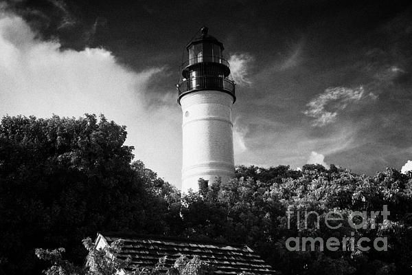 Key West Lighthouse Florida Usa Print by Joe Fox