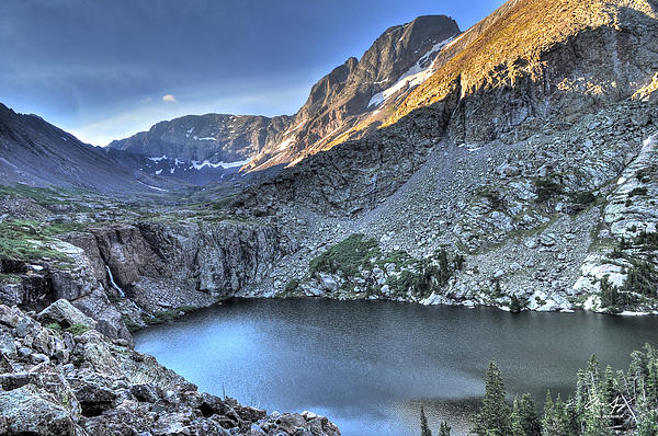 Kit Carson Peak And Willow Lake Print by Aaron Spong