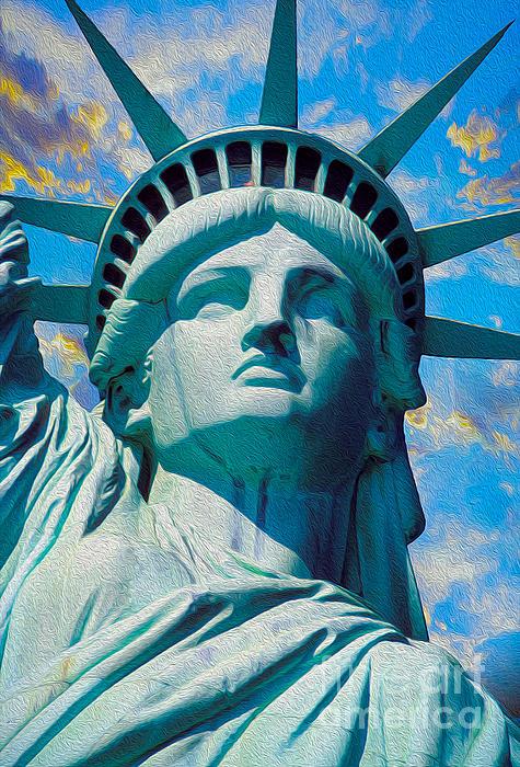 Lady Liberty Print by Jon Neidert