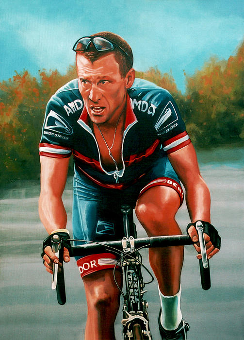 Lance Armstrong Print by Paul  Meijering