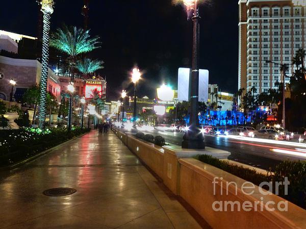 Leaving Las Vegas Print by David Bearden