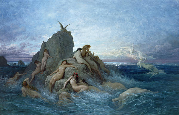 Les Oceanides Print by Gustave Dore